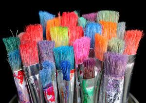 Kunstenaars penselen
